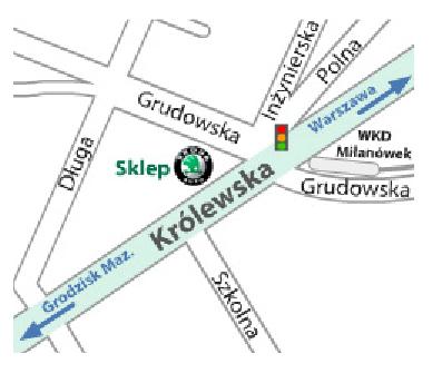 mapa milanowek